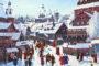 Погожий зимний день в древнерусском городе