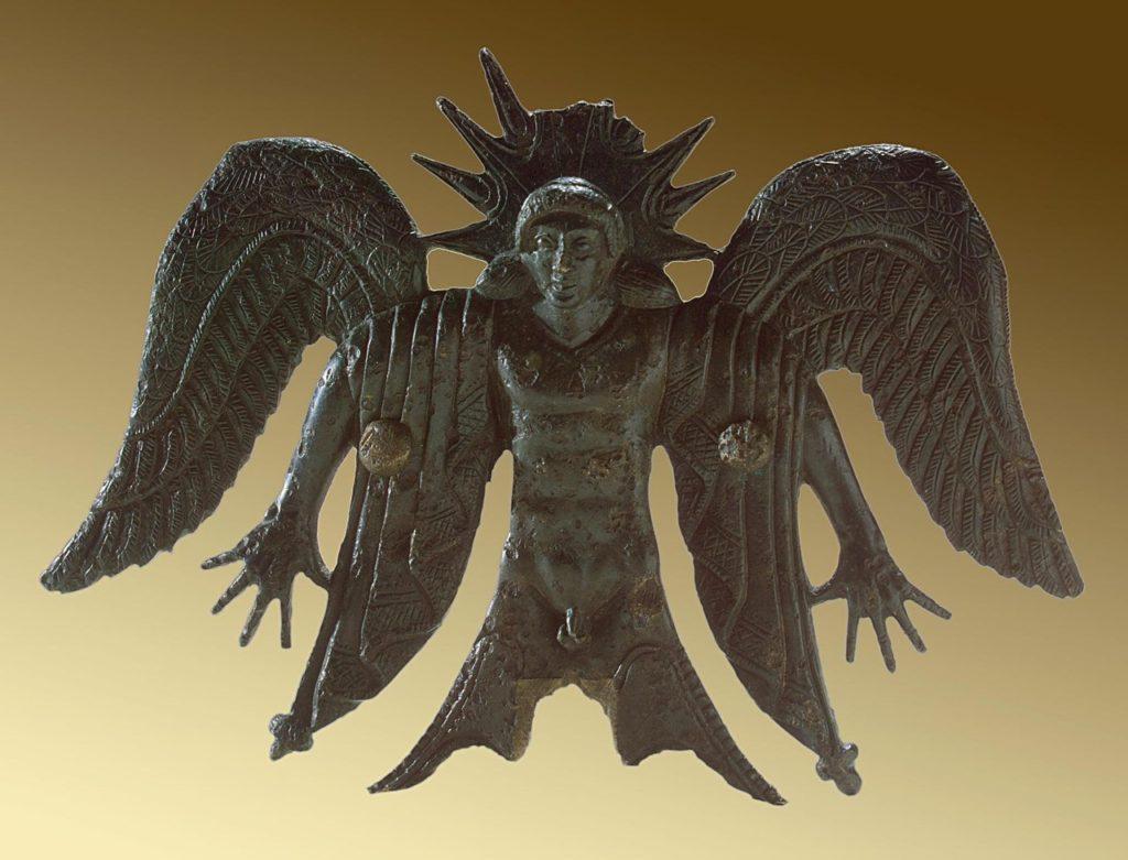 Бог Солнца. Рельефное украшение боевой колесницы. 3 тыс. лет до н. э.