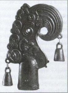 Голова грифона. Бронзовое навершие колесницы. 3 тыс. до н. э.